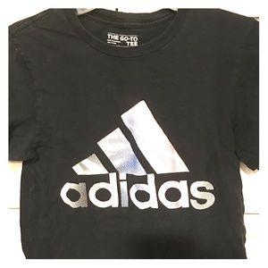 Adidas Black and White Boys T-Shirt